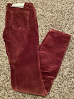 NEW DL1961 Premium Denim Girls Chloe Straight-Leg Velvet Pants Size 12 14 16 NWT