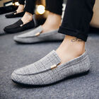 Spring Mens Stylish Slip On Casual Boat Deck Mocassin Loafers Driving Shoes