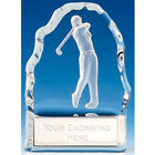 Echo Golf Glass Wedge Trophy - Free Engraving - Ball or Golfer