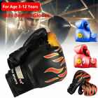 2pcs Boxing Training Fighting Glove Leather Kid Child Sparring Kickboxing Gloves