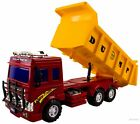 WolVol Big Dump Truck Toy for Kids - Solid Plastic Heavy Equipment Vehicle Toy -