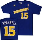 Golden State Warriors Latrell Sprewell Royal Blue Throwback Adidas T Shirt on eBay