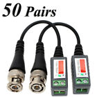 Lot CCTV Camera Passive Video Balun BNC Twisted Pair Connector Cable -QN42