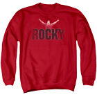 Rocky Sweatshirt Distressed Victory Red Pullover $43.89 USD on eBay