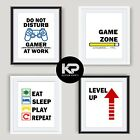 Gaming Prints Games Bedroom Wall Art Poster Xbox Ps4 Boy Room Decor Gamer Gifts