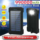 Portable Charger Solar Power Bank Waterproof LED Capacity for All Smart Phone