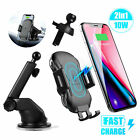 Wireless Qi Car Fast Charging Charger Clip Automatic Mount For Cell Phone GPS