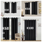 1/2PC100 BLACKOUT UNLINED HEAVY THICK THERMAL PANELS WINDOW CURTAIN TREATMENT
