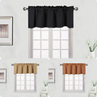 "1PC HEAVY THICK VALANCE BLACKOUT UNLINED THERMAL WINDOW DRESSING TOPPER 54""X18""L"