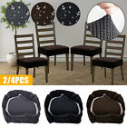 2x removable stretch dining chair protect seat cover cushion wedding venue decor
