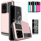 For Samsung Galaxy S20 Ultra S20+ Case Card Wallet Slot Cover +Screen Protecotor $7.59 USD on eBay