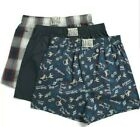 """LUCKY BRAND MEN BOXERS - Skull Underwear, P38 3 PACK WOVEN - """"Too Tough To Die"""""""