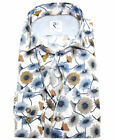R2 Amsterdam Langarmhemd weiss multicolor Floral Print Modern Fit Gr. 38 bis 48