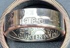 1965-1998 US Qtr Coin Ring, Size 5-14(1/4 & 1/2 sizes), You Pick Year. Free S&H