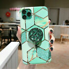 Case For Huawei Mate20 P20 P30 Pro Lite Geometric Marble Cover With Holder Stand