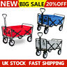 More images of Heavy Duty Foldable Garden Trolley Cart Wagon Collapsible Handcart Blue / Red / Grey