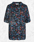 NEW RRP £49.95 Ex Seasalt Polpeor Shirt, Scattered Flowers Magpie