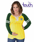 Green Bay Packers Centerline Jersey Maternity Top $49.99 USD on eBay