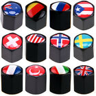 National Flag Pattern Car Valve Stems Caps Set Cover Dust Tire Wheel Anti-theft $8.81 USD on eBay