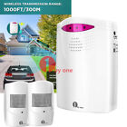 1byone 1000FT Wireless PIR Motion Sensor Security Systems Driveway Alarm Alert