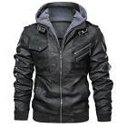 Mens Leather Jackets Autumn Casual Motorcycle PU Jacket Biker Leather Coats