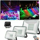 100W 50W 30W RGB LED Flood Light Outdoor Color Changing Remote Control W/ Memory