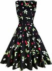 OWIN Women's Vintage 1950's Floral Spring Garden Rockabilly Swing Prom Party Coc