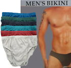 Kyпить 6 PK MEN'S BIKINI BRIEFS LOW RISE BREATHABLE COTTON SOLID COLOR SEXY UNDERWEAR на еВаy.соm
