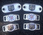 2 ~Vegas Golden Knights NHL Paracord Charms Oval or Mini Dog Tag shoelace charms $9.99 USD on eBay