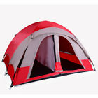 3-Person Camping Tent, Blue/Gray or Red/Gray
