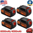 6Ah For Black & Decker LBXR20 Battery 6.0Ah 20V Li-ion LB20 LB2X4020 Power Tools
