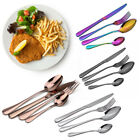 Modern Cutlery Set Colorful Stainless Steel Fork Spoon Knife Teaspoon 4/8/16/24x