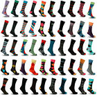Mystery Deal: Men's Colorful Stylish Fun Funky Dress Socks,Assorted Patterns LOT