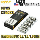 Kyпить SALES 10PCS=2PACKS Nautilus³ BVC 1.8/1.6OHM Replacement USA SHIPPING на еВаy.соm