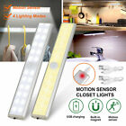 24 LED USB Rechargeable Motion Sensor Closet Lights Wireless Under Cabinet Light