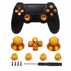 For Sony PS4 Controller Gamepad 12 in 1 Metal Buttons Kit Joystick Thumb Sticks