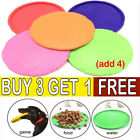 Dog Frisbee Durable Silicone Rubber Training Interactive Flying Disc Toy LE