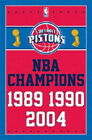 129598 Detroit Pistons Championship years NBA Decor LAMINATED POSTER US on eBay