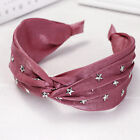 Women's Stars Tie Headband Hairband Wide Knot Hair Hoop Accessories Head Band