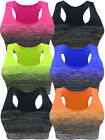 SPORTS BRA YOGA ACTIVEWEAR TOP SEAMLESS SPANDEX RACERBACK FREE SIZE 3 OR 6 PACK