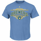 Milwaukee Brewers Great Performance Men's Coastal Blue Shirt