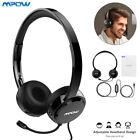 3.5mm USB Headset Wired Laptop Computer Headset Headphones Noise Cancelling lot