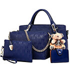 4pcs/set Women Ladies Leather Handbag Shoulder Tote Purse Satchel Messenger Bag