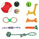 Fippy 10PCS Pet Dog Chew Toys Natural Dog Chew Rope Toys Set Durable Interactive