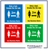 More images of 4 PACK SOCIAL DISTANCE FLOOR STICKER GRAPHIC CHOICE OF COLOURS 225mm