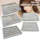 Uk Velvet Jewelry Display Organizer Tray Storage Necklaces Earrings Ring Tray