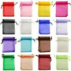 100 Organza Bags Jewellery Pouches Gift Bag Wedding Favour Party Mesh Drawstring