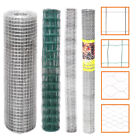 Welded Galvanised PVC Coated Fencing Chicken Wire Netting Mesh Aviary Garden New