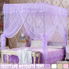 Netting Curtain Mosquito Nets Lace Insect Repellent Bed Canopy Four Corner Post  image