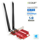 EDUP 2.4/5Ghz Wifi 6 3000Mbps AX200NGW PCI-E Wireless Card Adapter Bluetooth 5.0